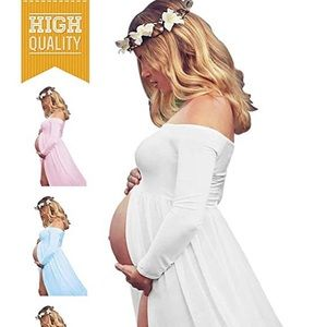 Other - BNWOT 🌺 Off Shouler Long Sleeve Maternity Dress